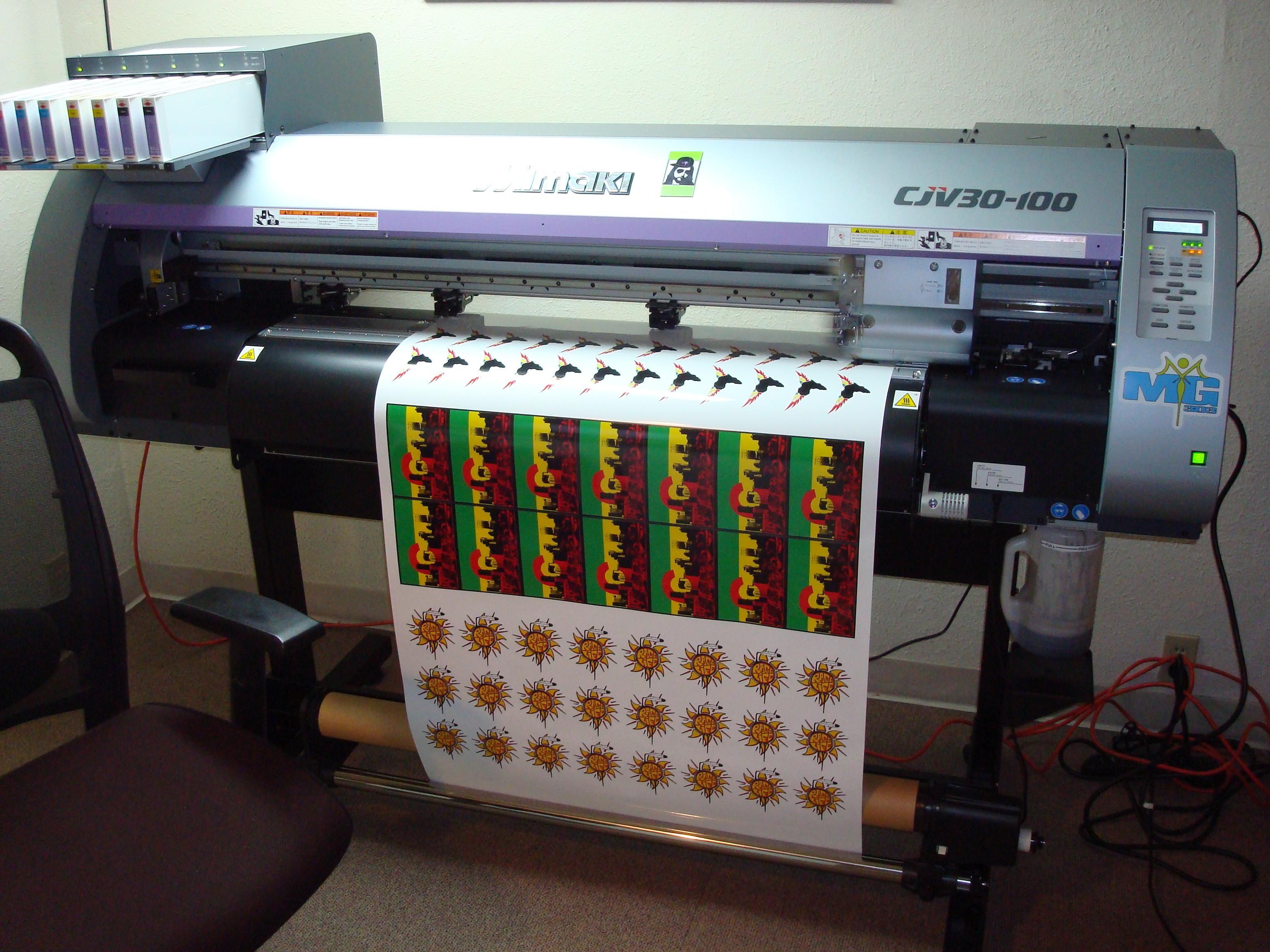 AMBRO Gets A New Mimaki CJV Printer AMBRO Manufacturing - Custom vinyl stickers nj