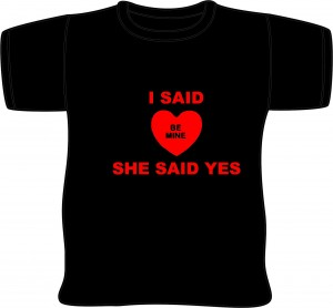 she said - Valentine Day Shirts