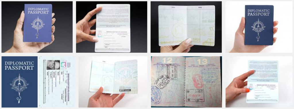 Custom Novelty Passport Books