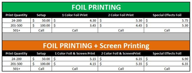 Custom Foil Printing T Shirts