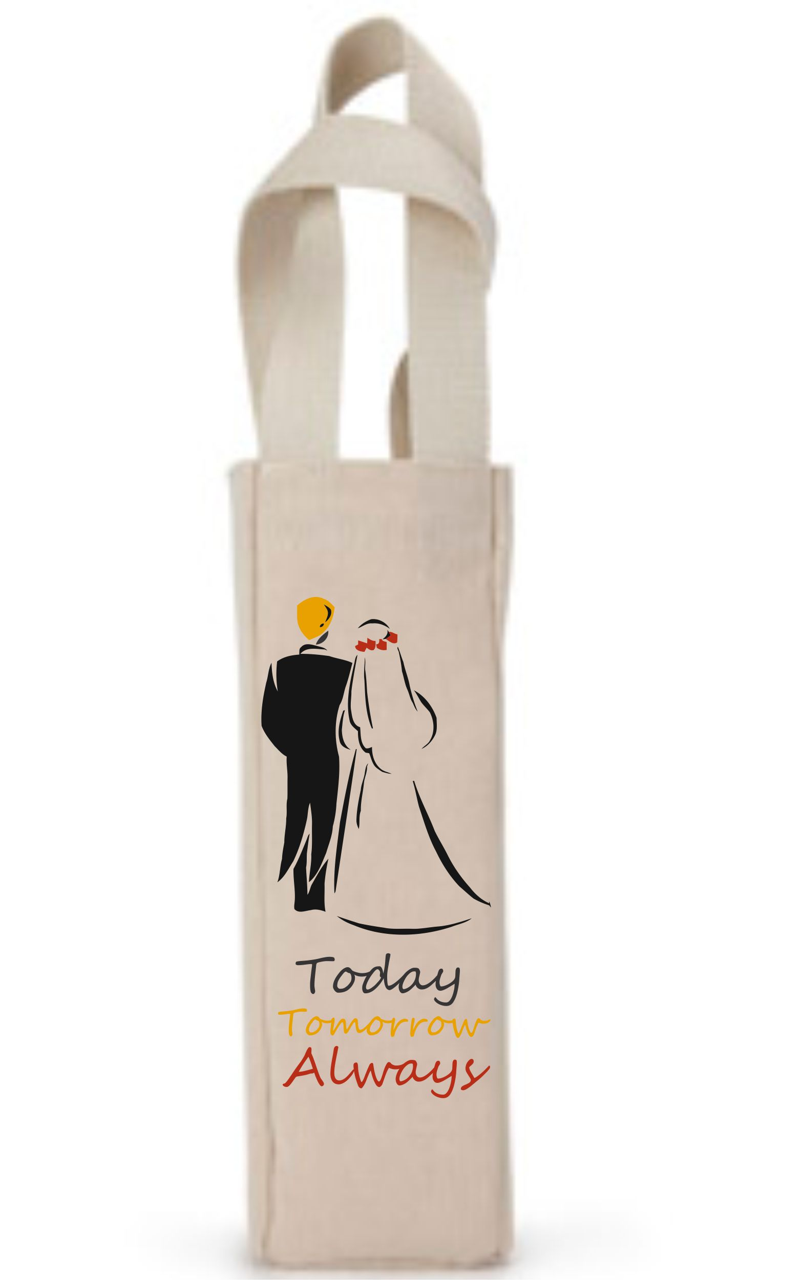 Custom Drawstring Wine Bags For Wedding Favors Custom Screen