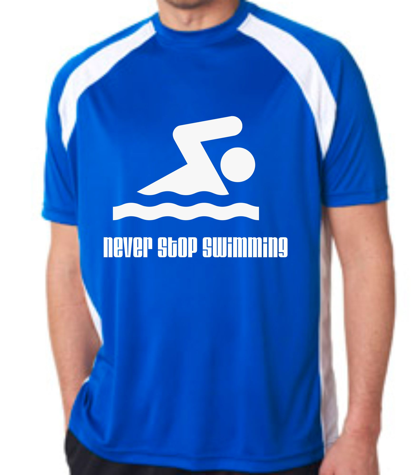 Swim shirt custom orders at ambro manufacturing for Wearing t shirt in swimming pool
