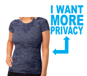 i want more privacy