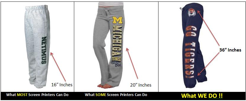 Custom Sweatpants Writing Down Leg Sweat Pants Printing