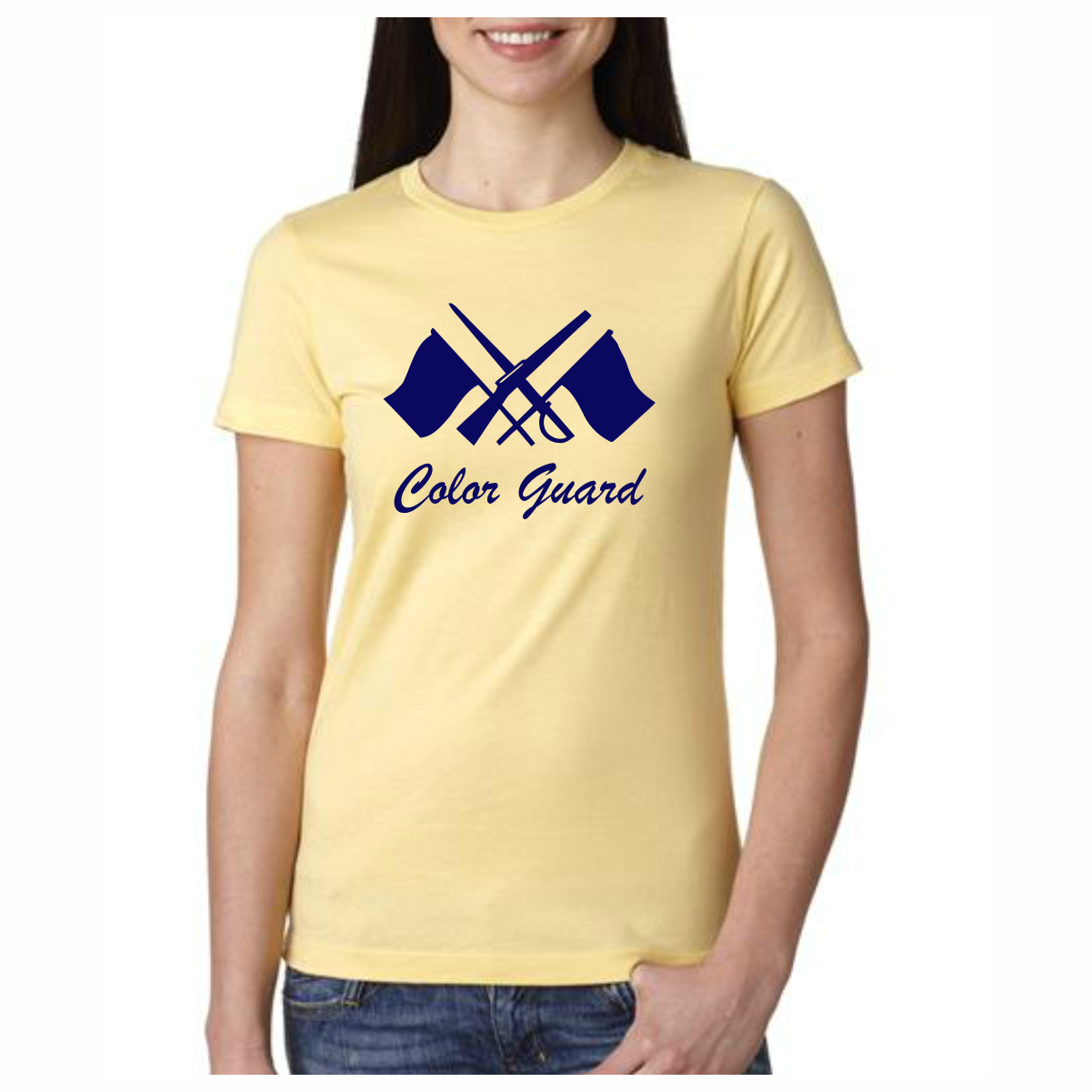 Color Guard T Shirt Rifles and Swords