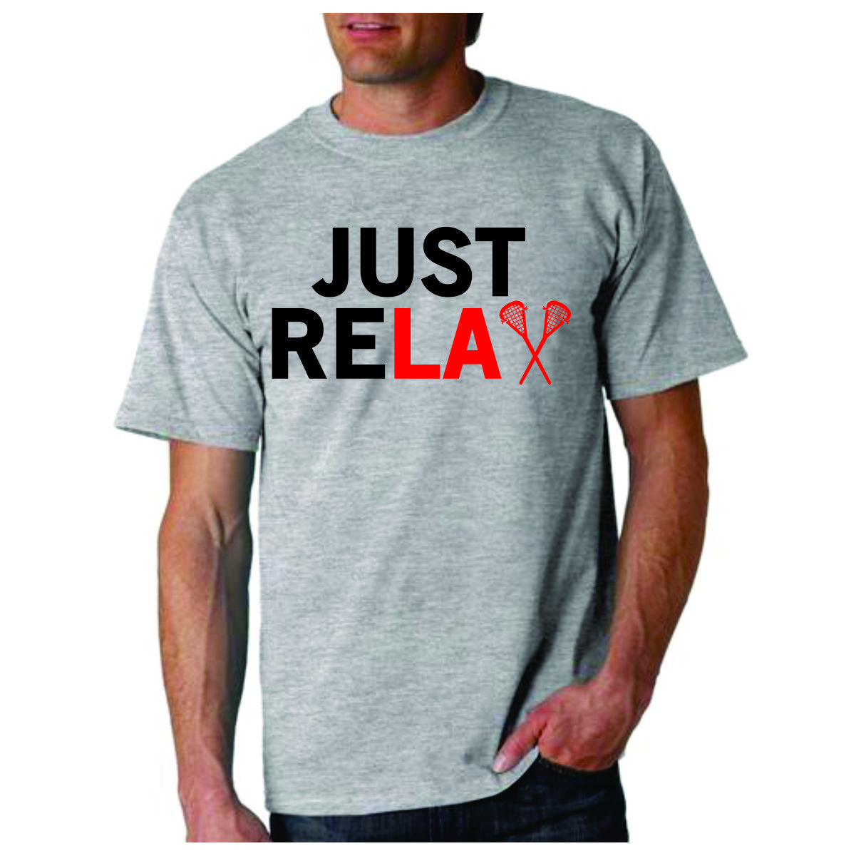 Lacrosse T Shirt Just Relax