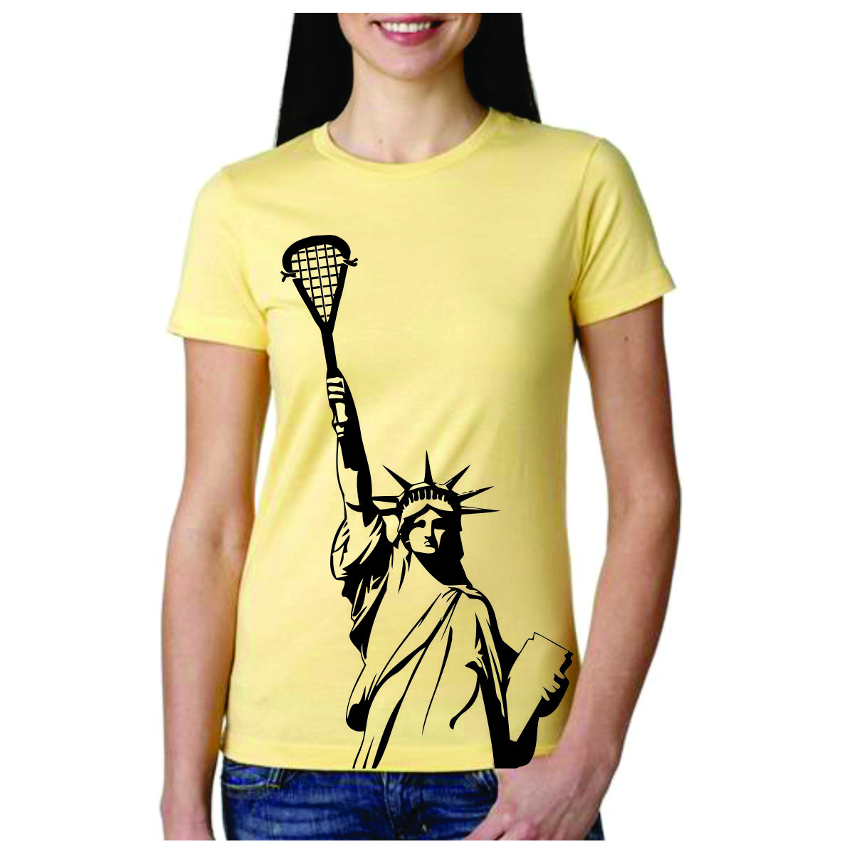 Lacrosse T Shirt Statue Of Liberty