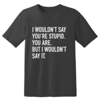 I Wouldn't Say You'Re Stupid. You Are. But I Wouldn't Say It T Shirt