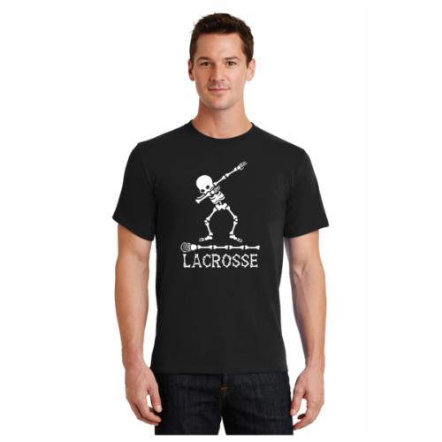 Dabbing Skeleton Lacrosse T-Shirt LAX T-Shirts