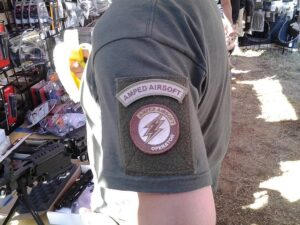 morale patch t shirt