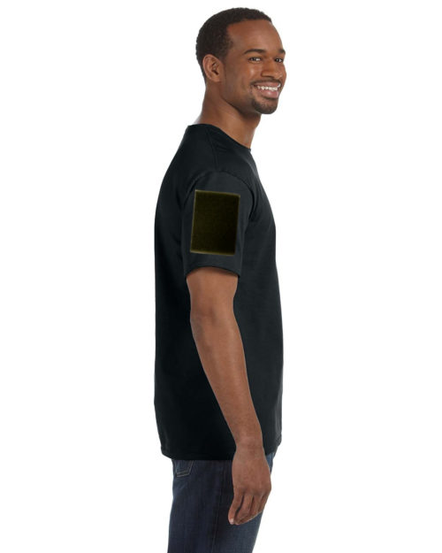 Shirts With Velcro Sleeves Black