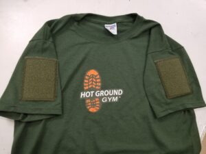 velcro t shirt with letters