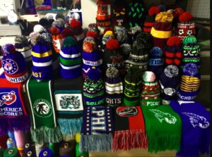 Knit Scarves and Beanies