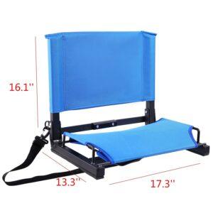 stadium seat with armrest
