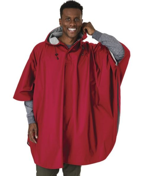 Red Waterproof Poncho