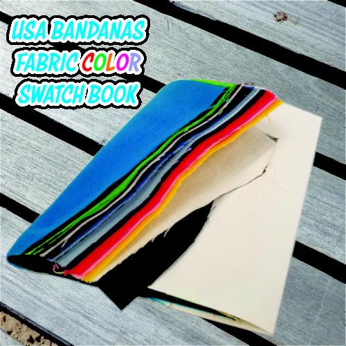 USA Made Bandanas Fabric Color Swatch Book