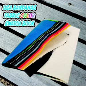 USA Made Bandanas Fabric Color Swatch Book