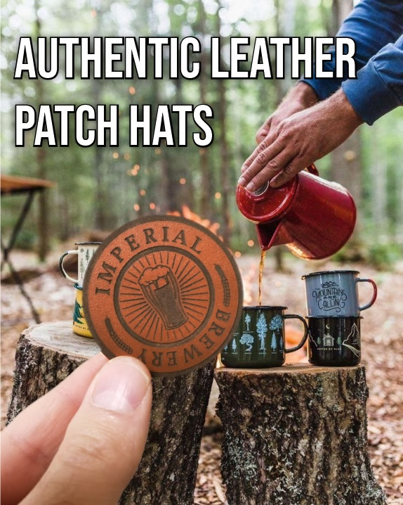 Authentic Leather Patch Hats