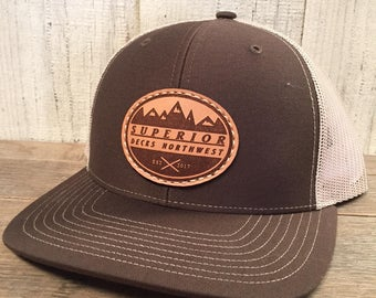 Order Custom Leather Patch Hats